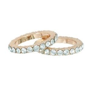 Genny Ring Set of 2 Light Blue Size 6